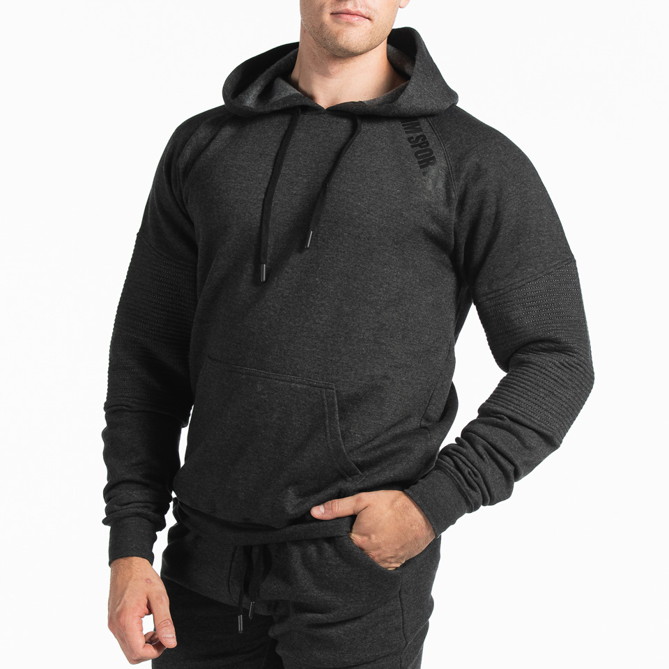 Basic Hoodie Christian, Dark Grey Melange