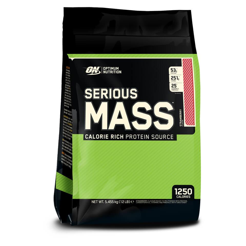 Optimum Nutrition Serious Mass 5,45 kg Strawberry
