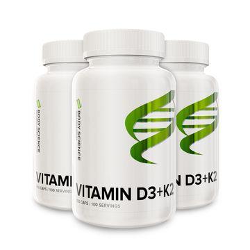 3 stk Vitamin D3+K2