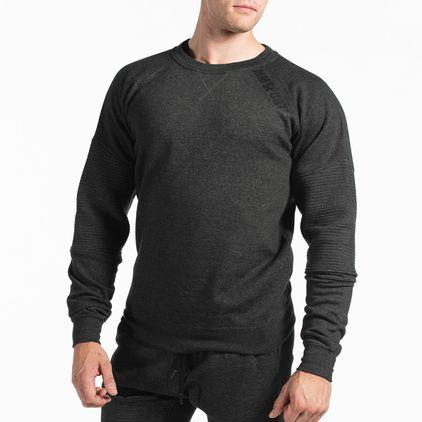 Basic Sweater Christian, Dark Grey Melange