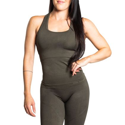 Seamless Tank Top Daisy, Army Green