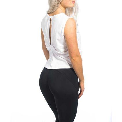 Twist Back Top Aria, White
